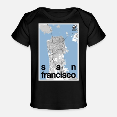 Map San Francisco hipster city map black/white - Baby Organic T-Shirt
