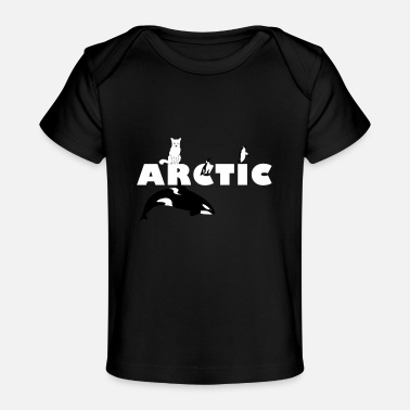 Arctic Arctic design ARCTIC with arctic fox orca penguins - Baby Organic T-Shirt