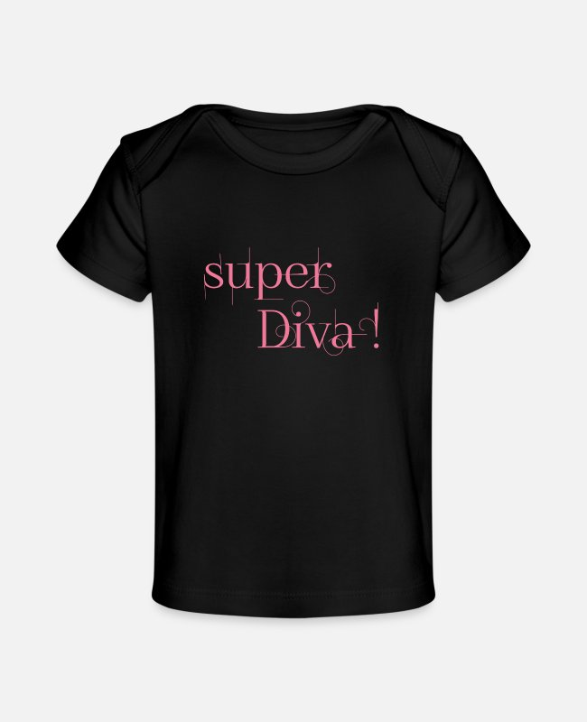 Arrow Baby T-Shirts - super Diva ! - Baby Organic T-Shirt black