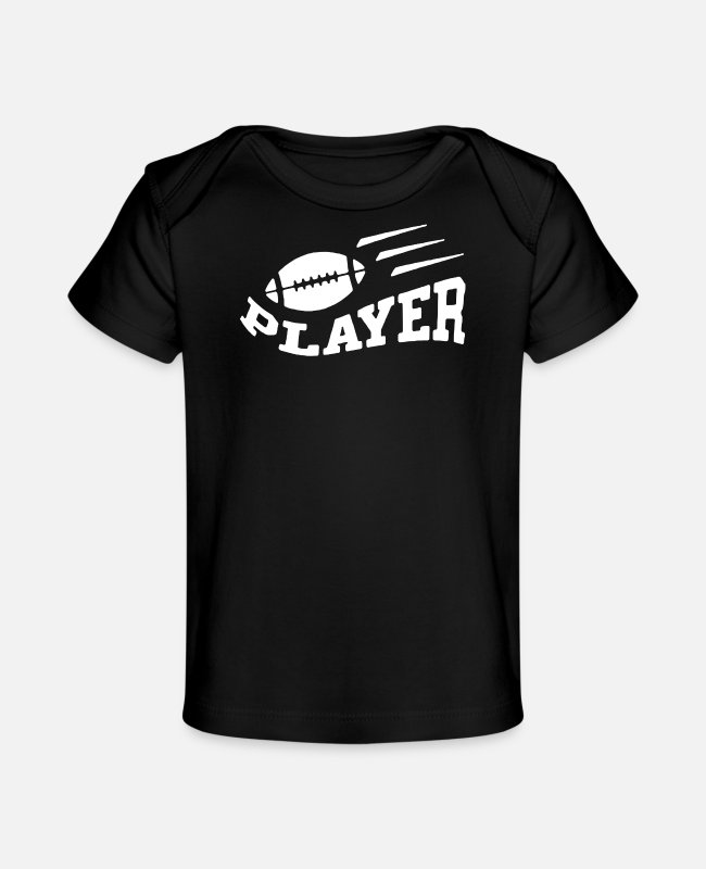 Movie Baby T-Shirts - Player Football - Baby Organic T-Shirt black