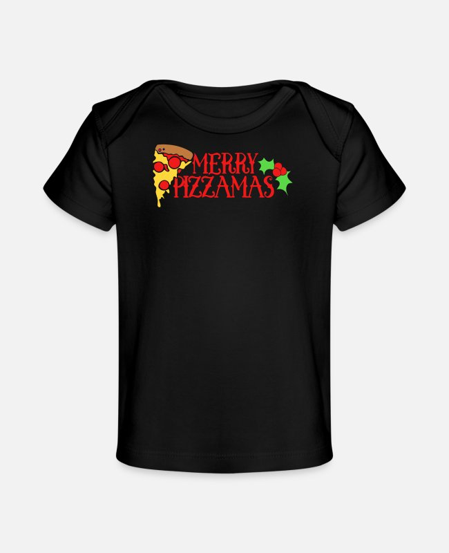 Movie Baby T-Shirts - Merry Pizzamas 3 - Baby Organic T-Shirt black