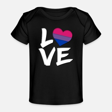 Love Is Love Pride Heart Love Pride Heart Bisexual Flag - Baby Organic T-Shirt