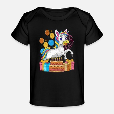 Unicorn children gift animal birthday - Baby Organic T-Shirt