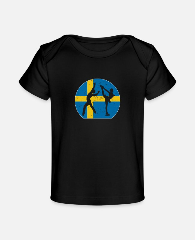 Se Baby T-Shirts - Figure Skating Gift for Winter Sports Fans Sweden - Baby Organic T-Shirt black
