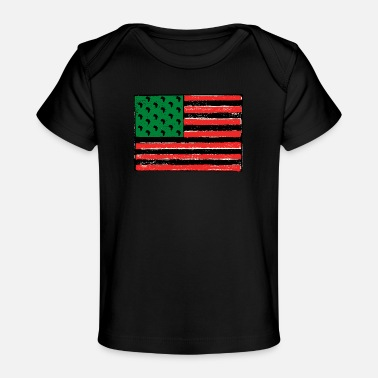 Red Red Green Black Flag - Baby Organic T-Shirt