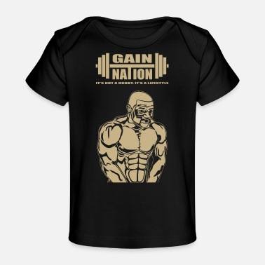 Muscle Man Gold - Baby Organic T-Shirt