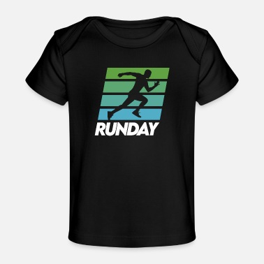 Work Out Runday Motivation Runner Marathon Vintage Retro - Baby Organic T-Shirt