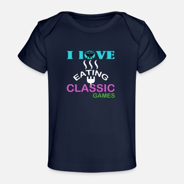 Classic Game i love eating classic games - Baby Organic T-Shirt