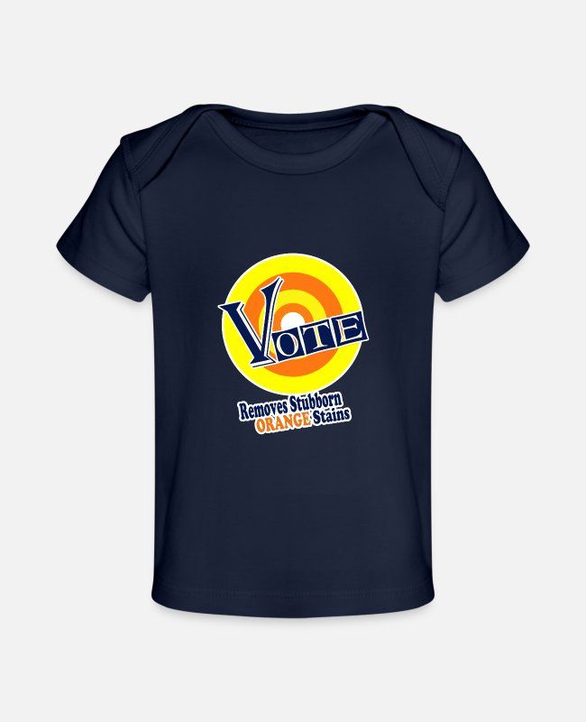 Elect Baby T-Shirts - vote removes 3 - Baby Organic T-Shirt dark navy