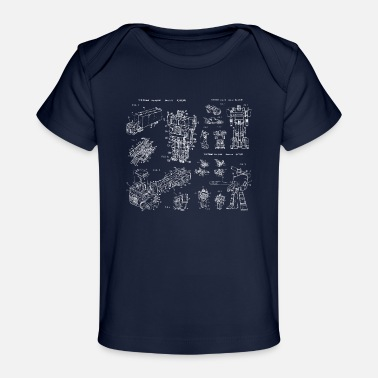 Decepticon Transformers Original Patent Prints - Baby Organic T-Shirt