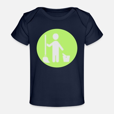 Picto man cleaning - Baby Organic T-Shirt