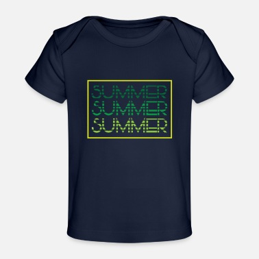 Summer Colors Summer - summer colors - beach - Baby Organic T-Shirt