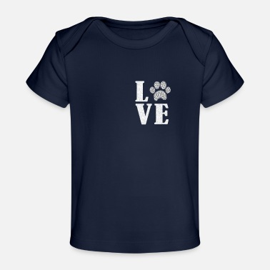 Dog Paw Dalmatian dog Lover, pet lover design, I love dog - Baby Organic T-Shirt