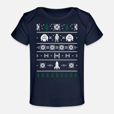 Ugly Space Christmas Ugly Sweater Ugly - Baby Organic T-Shirt