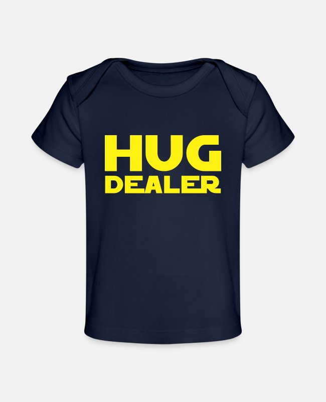 Movie Baby T-Shirts - Hug Dealer 3 - Baby Organic T-Shirt dark navy
