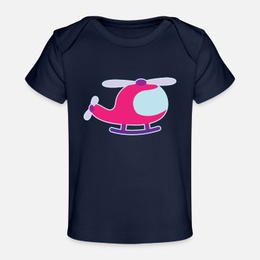 Cute Helicopter Helicopter Cute Girls - Baby Organic T-Shirt