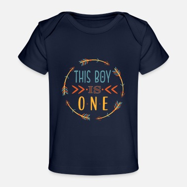 1st Birthday 1st Birthday Boys Tribal Arrow - Baby Organic T-Shirt