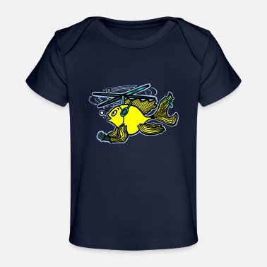 Cute Helicopter Helicopter Fish - Baby Organic T-Shirt