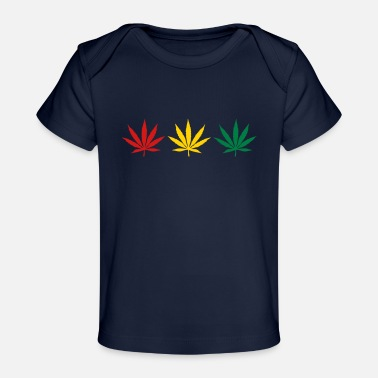 Three Little Birds weed_rgg_3clr - Baby Organic T-Shirt