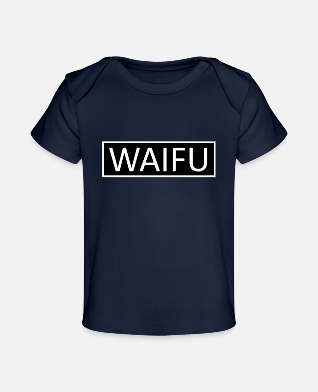 Game Baby T-Shirts - WAIFU Bar Beam Anime Manga Hentai Overlay Gifts - Baby Organic T-Shirt dark navy