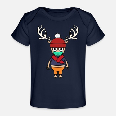 Tony Chopper cute reindeer with face mask - Baby Organic T-Shirt