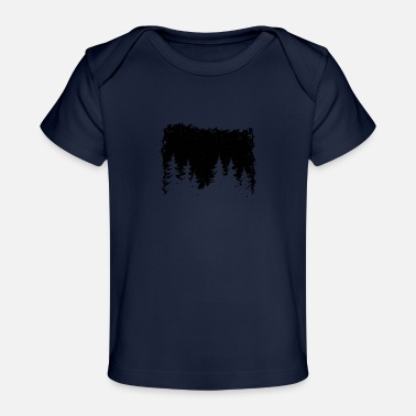Mobile Forest silhouette gift nature planet - Baby Organic T-Shirt