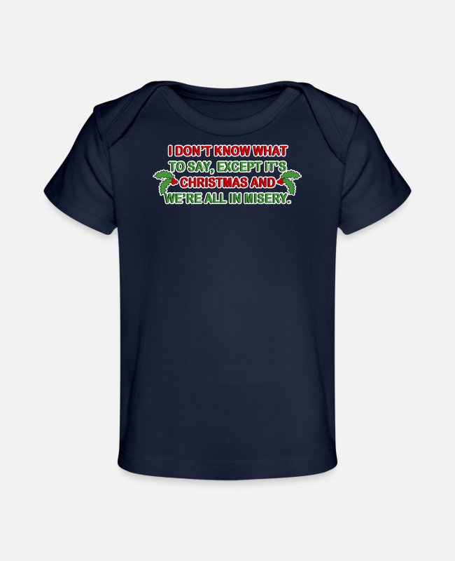 Miserie Baby T-Shirts - Christmas Misery - Baby Organic T-Shirt dark navy
