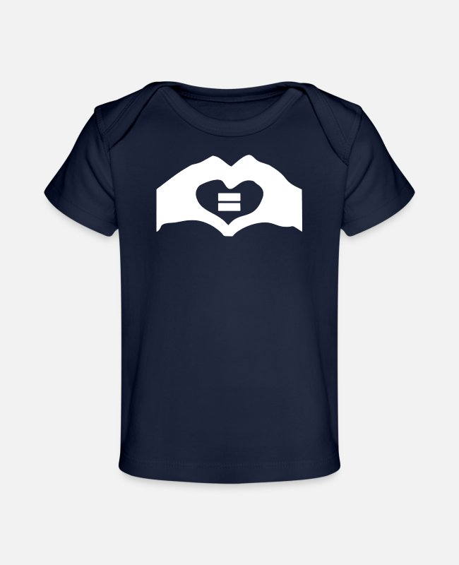 Movie Baby T-Shirts - Gay rights lesbian cool gay marriage geek 2 - Baby Organic T-Shirt dark navy
