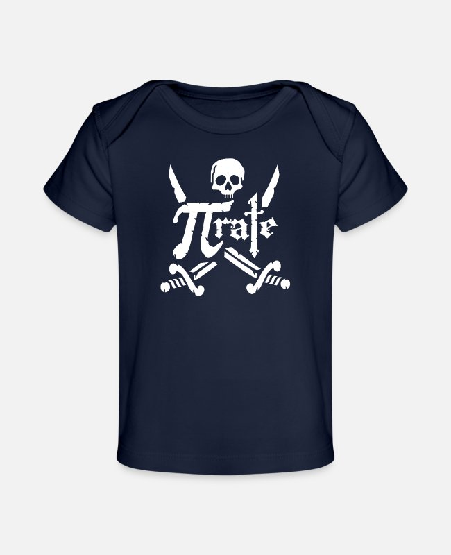 Movie Baby T-Shirts - Pi Rate 3 - Baby Organic T-Shirt dark navy