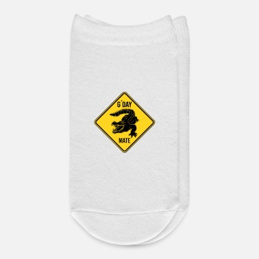 Road Sign Australia G'Day Mate Australia Crocodile Alligator Road Sign - Ankle Socks