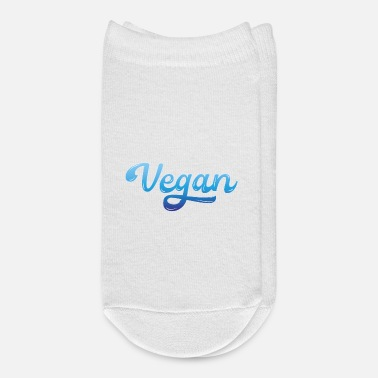 Blue White Graffiti Vegan blue white - Ankle Socks