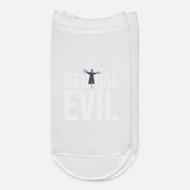 Neutral Evil - Scarecrow Graphic Text - Roleplay - Ankle Socks