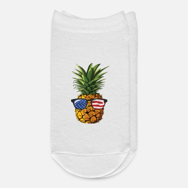 Pineapple And Soccer Pineapple Sunglasses 4th of July Men Women shirt - Ankle Socks