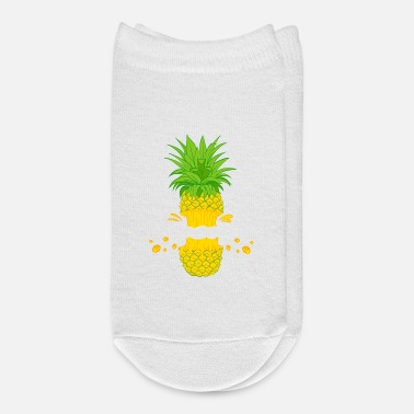 Moleskin Fruit Cool Pineapple Graphic Tshirt Cutted Half - Ankle Socks