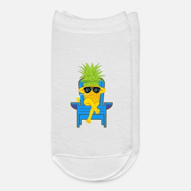 Moleskin Fruit Cool Pineapple With Sunglasses Graphic - Ankle Socks