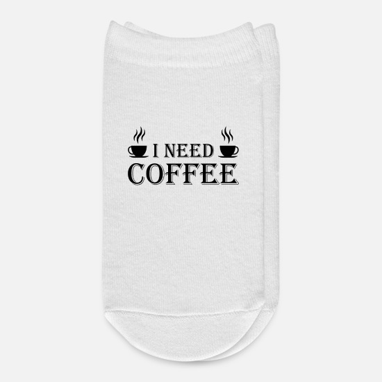 Gift Idea Socks - I need Coffee - Ankle Socks white