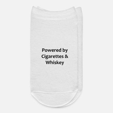 Whiskey Powered by Cigarettes Whiskey - Ankle Socks