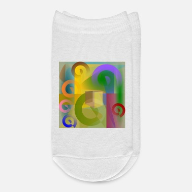 Geometry Multicolored spiral geometry - Ankle Socks