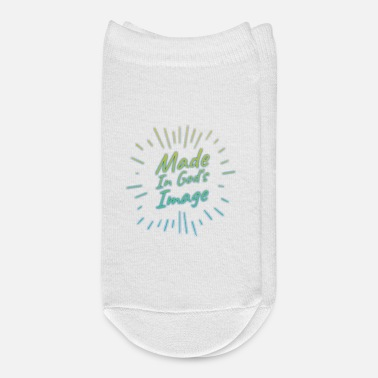 Motivation Christian Shirts - Made In God's Image - Christian - Ankle Socks