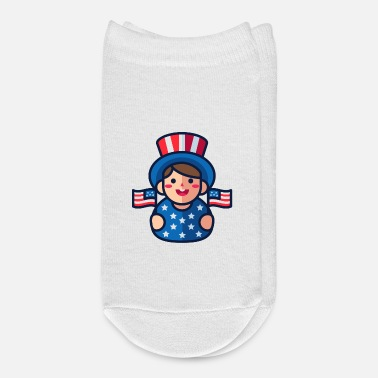 Kids 4th of july patriot kid - Ankle Socks