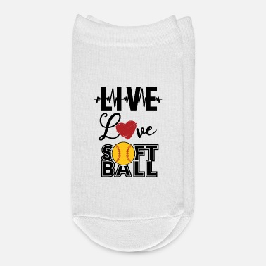 Live Love Softball Player Base Batter Hitter Gift - Ankle Socks