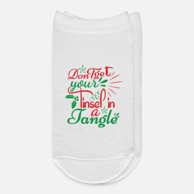 Birth DON T GET YOUR TINSEL IN A TANGLE - Ankle Socks