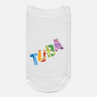 Text Tuba Cracked Text - Ankle Socks