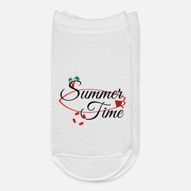 Palm Trees summer time palm tree surf boat watermelon - Ankle Socks