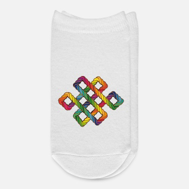 Endless Buddhist endless knot in rainbow colors - Ankle Socks
