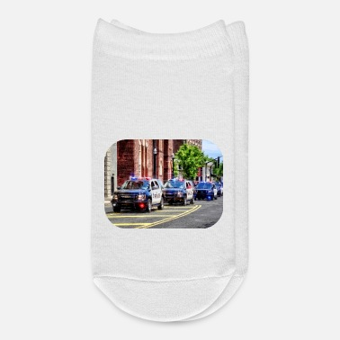 Policeman Line of Police Cars II - Ankle Socks