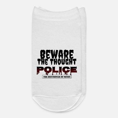 Police Beware The Thought Police - Ankle Socks