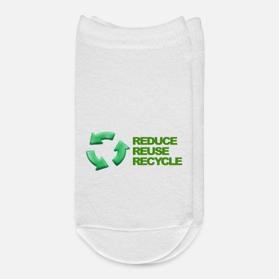 Reduced Socks - Reduce reuse recycle - Ankle Socks white