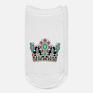 Persian History Crown Royal Majesty Queen Royalty Coronation King - Ankle Socks