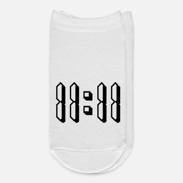 O-11 11:11 eleven o clock 80s retro numbers - Ankle Socks